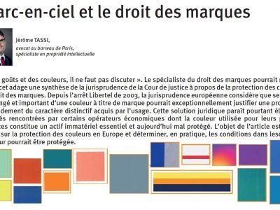 Publication d'un article de Jérôme Tassi sur la protection des couleurs par le droit des marques
